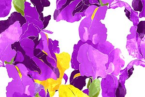 iris seamless pattern | JPEG