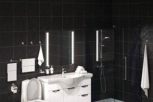 Set of bathroom sanitary engineering