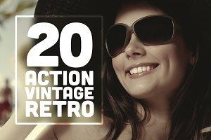 20 Action Vintage Retro