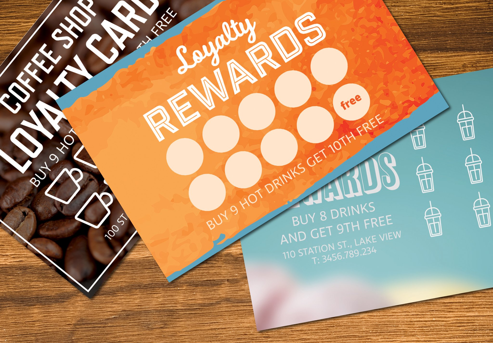 Loyalty Card Templates Mockup Creative Daddy