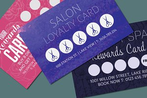 Loyalty Card Templates Mockup