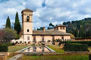 Alhambra gardens view