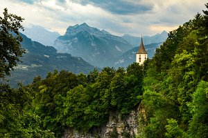 Swiss Alps mountains view