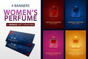 Women's Perfume Banners + Bonus
