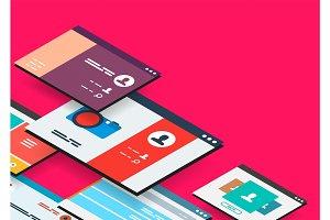 Isometric app concept