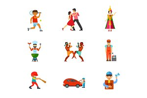 Activity icon set