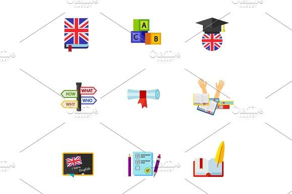 English Icon Set