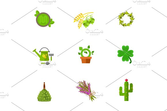 Gardening And Herbs Icon Set