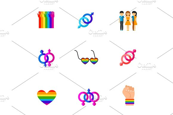 Homosexuality Icon Set