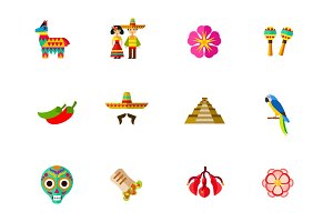 Mexico icon set