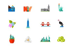 New York city icon set