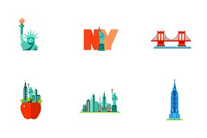 New York icon set