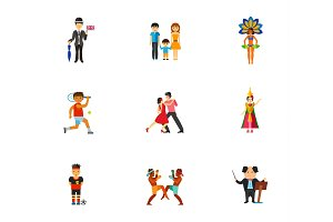 People of world icon set