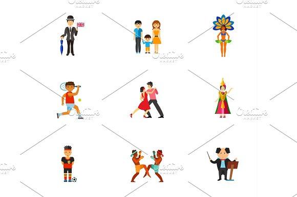 People Of World Icon Set