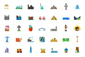 Places icon set