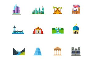 Places of interest icon set