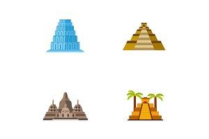 Pyramids icon set