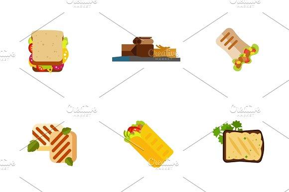 Snack Icon Set