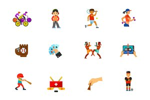 Sport and games icon set