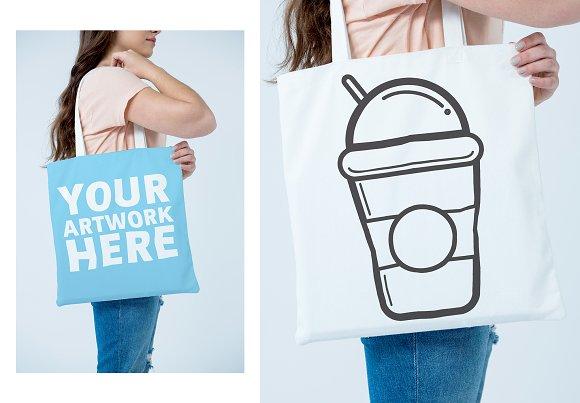 Woman With Bag Graphic Mockup