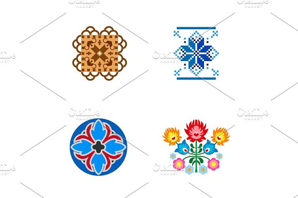 Traditional Patterns Icon Set