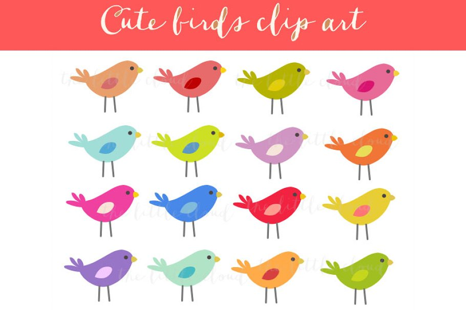 Set Of Birds In Different Color Feathers Royalty Free Cliparts, Vectors,  And Stock Illustration. Image 39163627.
