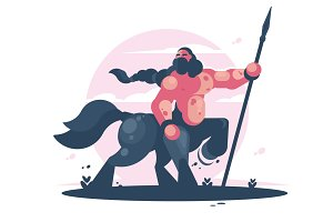 Character centaur with spear