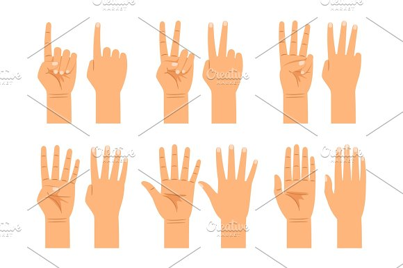 Hand Counting Signs