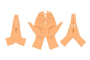 Religion praying hands