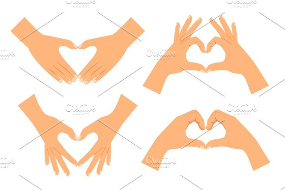 Two Hands Making Heart Shape