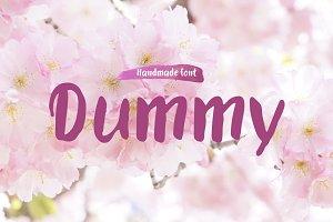 Dummy—handwritten font