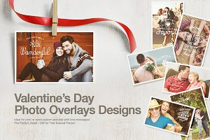 Valentine's Day Photo Overlays