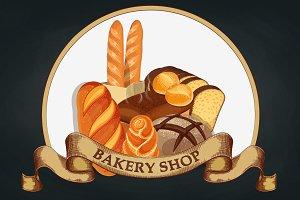 Baking shop emblem