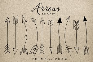 50% Off Hand Drawn Arrow Clip Art