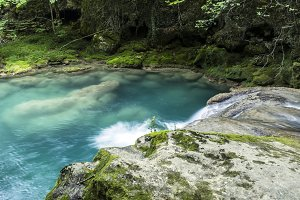 Natural pool river