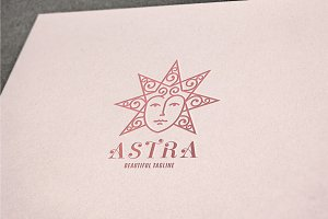 Astra Star Face Logo Template