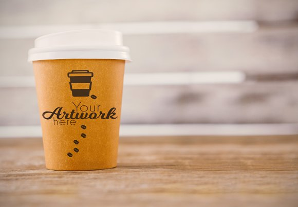 Coffee Cup With Graphic Mockup