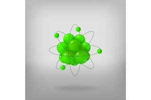 3d abstract atom structure.