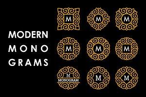 9 Modern Monograms