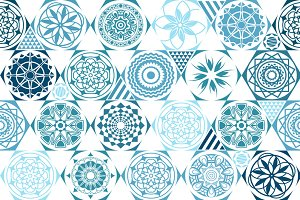 vector seamless patterns. tiling
