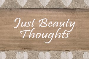 Shabby Chic Background with Letters Quote