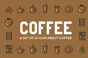 Coffee icons + BONUS