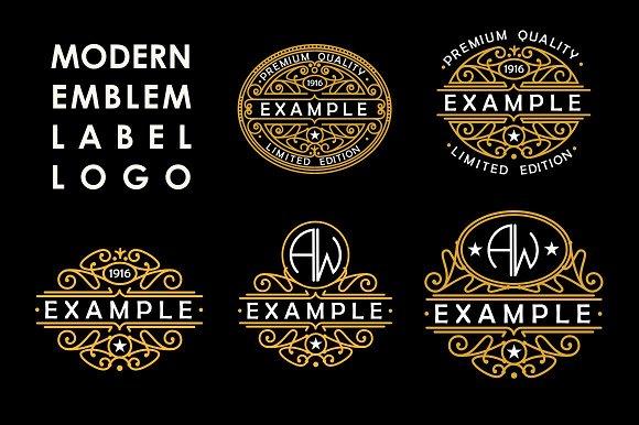 5 Art Nouveau Labels