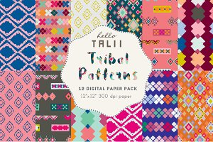 Tribal Patterns Digital Paper