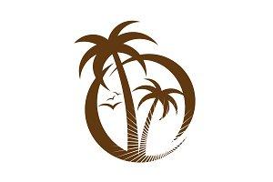Palm tree emblem