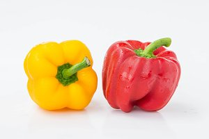 Pepper yellow red raw vegetables