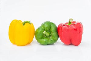 Pepper raw vegetables