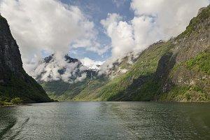 Sailing through Sognefjord