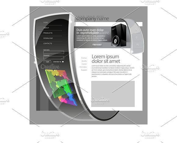Gray Vector Website Template