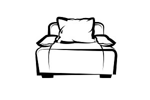 Sofa. freehand drawing
